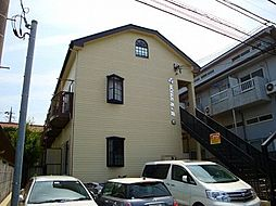東京都日野市旭が丘2丁目の賃貸アパートの外観