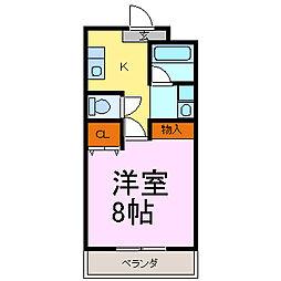 愛知県知多郡美浜町大字奥田字石畑の賃貸アパートの間取り