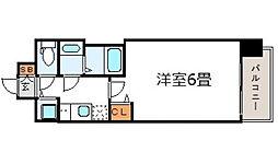 プレサンス梅田東アルファ[7階]の間取り