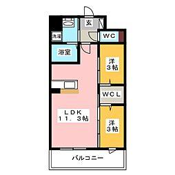 modern palazzo 姪浜 avenue[10階]の間取り