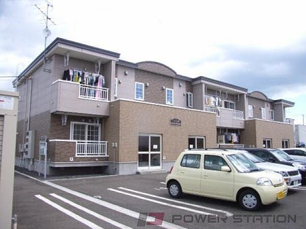 北海道江別市大麻桜木町の賃貸アパートの外観