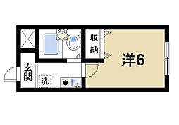 奈良県奈良市奥子守町の賃貸マンションの間取り