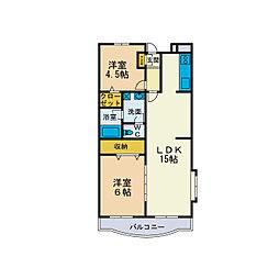 シャトレーSHIMIZU[3階]の間取り