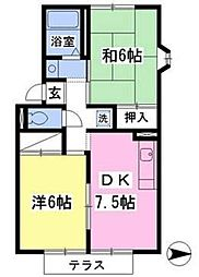 賃貸アパート リベラルフラット[101号室]の間取り