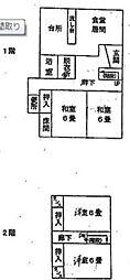 [一戸建] 香川県高松市元山町 の賃貸【/】の間取り