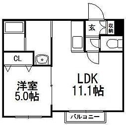 DOMUS[4階]の間取り