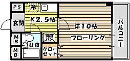 大阪府大阪市東淀川区西淡路5丁目の賃貸マンションの間取り