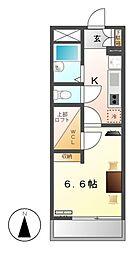 レオパレスフレンディー太閤[3階]の間取り