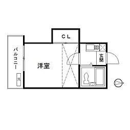 サクセス西台[2階]の間取り