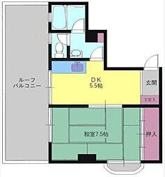 石田コーポラス[4階]の間取り