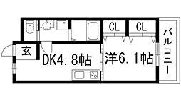 栄根コーポラス[1階]の間取り