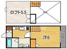 ロフティ紫野西土居町[206号室号室]の間取り