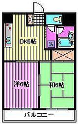 モンシェール寿能[4階]の間取り