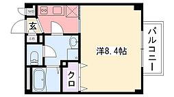 レジデンス武庫川II[206号室]の間取り