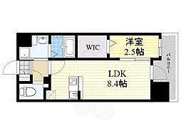 グランフォーレ箱崎プレミア 9階1LDKの間取り