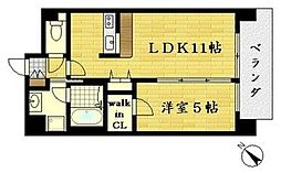 メゾンラトゥール 5階1LDKの間取り