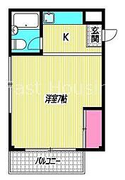 東京都杉並区和田3丁目の賃貸マンションの間取り