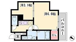 エヌエムスワサントアン 9階2Kの間取り