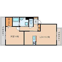 JR関西本線 王寺駅 バス10分 星和台2丁目下車 徒歩3分の賃貸アパート 2階1LDKの間取り