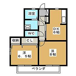 メゾンベールII[2階]の間取り