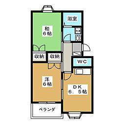 ユニオン3A[1階]の間取り