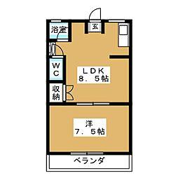 まるせきマンション[2階]の間取り