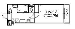 プランドールSHINWA[203号室]の間取り