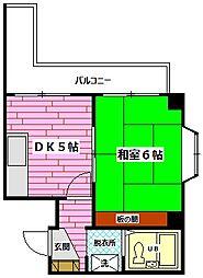 広島県安芸郡海田町窪町の賃貸マンションの間取り