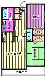 埼玉県さいたま市緑区東浦和4丁目の賃貸マンションの間取り