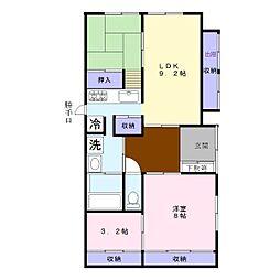 [一戸建] 東京都昭島市緑町4丁目 の賃貸【/】の間取り