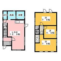[一戸建] 三重県四日市市富田3丁目 の賃貸【/】の間取り