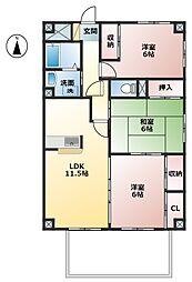 ゴールドハウス[1階]の間取り