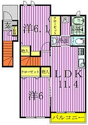 リッシュヒルズ柏の葉I、II、III[3-201号室]の間取り