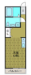 フーガヤベ[1階]の間取り