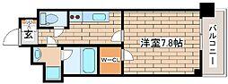 阪急神戸本線 王子公園駅 徒歩6分の賃貸マンション 5階1Kの間取り