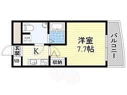 ラシーヌ日本橋 10階1Kの間取り