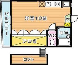 福岡県北九州市八幡東区東台良町の賃貸アパートの間取り