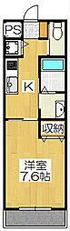京都府京都市東山区白川筋三条下る2丁目梅宮町の賃貸マンションの間取り