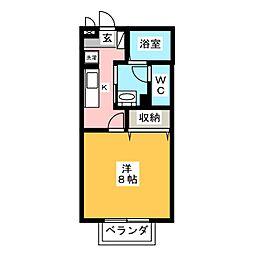 セジュール学園通[1階]の間取り