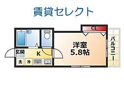 オネスティ松戸[201号室]の間取り