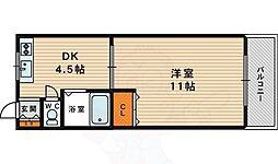 M'PLAZA城東弐番館 6階1DKの間取り