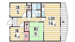 ファミリアル隆樹[5階]の間取り