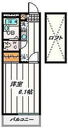 埼玉県さいたま市見沼区深作3の賃貸アパートの間取り