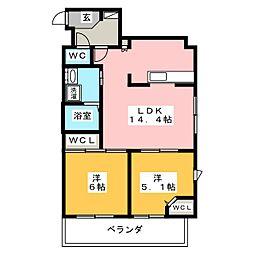 GRAN PACE[6階]の間取り