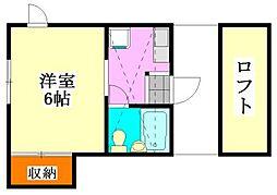千葉県船橋市浜町1丁目の賃貸アパートの間取り