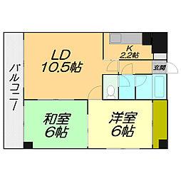 北海道札幌市白石区北郷四条1丁目の賃貸マンションの間取り