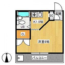 メゾンレザンジュ[5階]の間取り