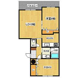 リングロード21[4階]の間取り