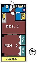 ガーデンコート船橋[402号室]の間取り