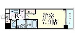 サムティ福島PORTA 3階1Kの間取り